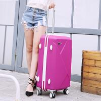 韩版拉杆箱女旅行箱包密码箱男行李箱皮箱学生箱24寸26寸28寸 玫红色 20寸单箱(送六)