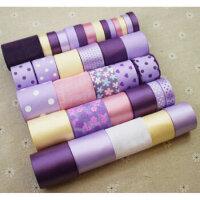 韩国手工DIY丝带紫色发饰品发夹配件 蝴蝶结材料包