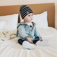 婴儿幼儿风衣外套春秋装男宝宝可爱小兔子潮连帽女幼童0-3岁衣服