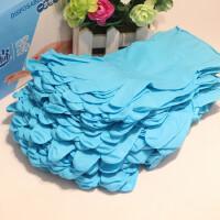 加厚耐用蓝色丁晴手套 一次性耐油防水防滑手套 橡胶劳保耐酸碱
