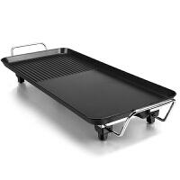电烧烤炉家用室内无烟不粘电烤盘铁板烧烤肉机架烤鱼锅多功能 多人聚餐巨划算款