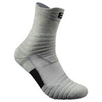 男士中长筒加厚毛巾底棉袜户外跑步羽毛球运动袜 篮球袜2双装