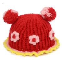 儿童毛线帽子女童卡通护耳帽女宝宝保暖套头帽婴幼儿帽子