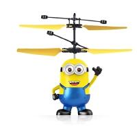 小黄人玩具感应飞行器充电悬浮遥控飞机直升机会飞的儿童抖音玩具