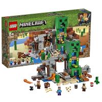【当当自营】LEGO乐高 我的世界系列 21155 爬行者矿洞事故