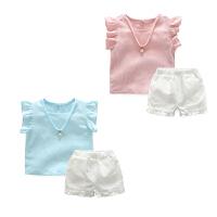 婴儿套装季宝宝季休闲外出衣服5新生儿春款1岁潮两件套新年