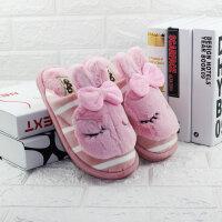 可爱卡通棉拖鞋女 冬季秋天家居防滑家用毛拖鞋室内居家毛绒外穿518-15粉色