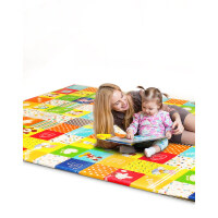 迪士尼宝宝爬行垫加厚婴儿客厅爬爬垫子家用折叠儿童地垫进口XPE