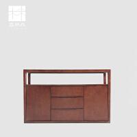 新中式禅意椅组合茶台茶椅茶凳会所酒店茶室茶楼实木定制家具