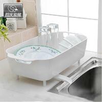 双庆厨房置物架碗架塑料沥水盘杯碟架多功能沥水架置物架1081