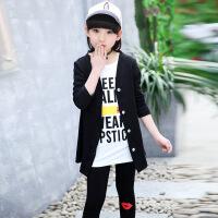 乌龟先森 儿童套装 女童春季新款韩版连帽卫衣裤子两件套女孩中大童运动休闲学生套头衫时尚童装