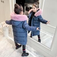 冬装中长款洋气羽绒中大儿童装加厚棉袄女童棉衣外套