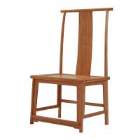 榆木实木椅子新中式太师椅家用明清仿古官帽椅实木圈椅茶椅灯挂椅