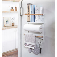 墙壁置物架 日式冰箱架侧挂磁铁架子厨房冰箱收纳侧壁置物架纸巾架