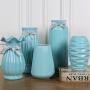陶瓷花瓶简约仿真花束插花假花客厅干花小落地北欧家居装饰品摆件