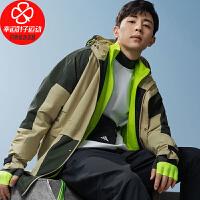 幸运叶子 阿迪达斯男装秋季新款TH PARKAR运动型格休闲上衣宽松舒适连帽梭织夹克外套GF4016