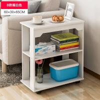 简约现代边几创意家用小茶几北欧沙发边柜可移动角几迷你小桌子 E598 B款暖白