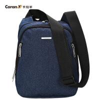 卡拉羊单肩包男士休闲斜挎包运动小包竖款男包韩版新款CX4105