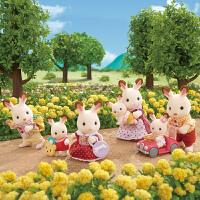 正版日本森贝儿家族家具森林家族女孩过家家玩具沙发客厅家具套装