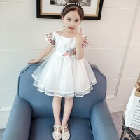 女童夏装儿童连衣裙小女孩夏季洋气裙子中大童装女公主裙