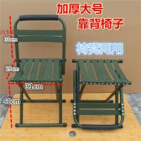 便捷折叠凳子马扎加厚靠背椅子军工钓鱼小凳子椅子厚火车小板凳