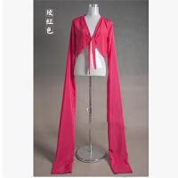 水袖舞服装女古典惊鸿舞采薇练功服藏族水袖上衣女演出服戏曲甩袖 玫