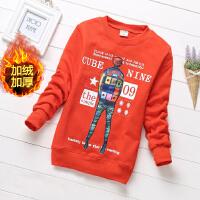 男童卫衣加绒套头2020新款中大童潮款打底衫儿童保暖上衣男孩