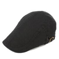 光板时尚潮男士帽子防晒遮阳休闲黑色贝雷帽基本款鸭舌帽