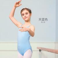 儿童舞蹈服女童芭蕾舞裙练功服幼儿体操服连体