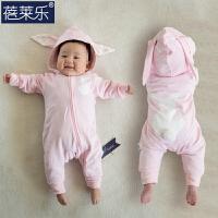 婴儿连体衣服宝宝新生儿春装冬季哈衣外出服01岁3个月新年