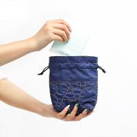 韩国便携M巾包时尚姨妈巾卫生棉收纳包大容量抽绳潮