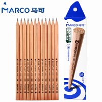 MARCO/马可 6001-12CB 原木书写铅笔12支装/2B 无铅毒六角木杆小学生用作业考试练字笔套装速写笔儿童绘