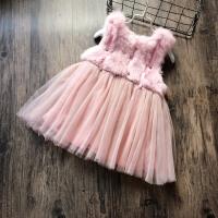 自留2016冬季新款女童背心裙毛呢拼接仿兔毛连衣裙加绒加厚公主裙