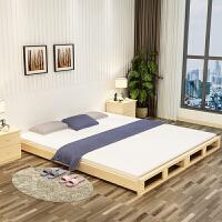 �易木松木床客�d榻榻米低矮木板床�坞p人�捎每莎B放沙�l硬板床 其他 框架�Y��