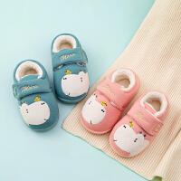 儿童棉拖鞋男宝室内鞋包跟防滑小孩拖鞋女冬宝宝棉鞋可爱家居鞋保暖