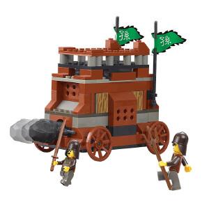 【当当自营】小鲁班三国系列儿童益智拼装积木玩具 霹雳冲撞车M38-B0260