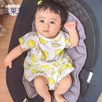 婴儿连体衣服宝宝新生儿季0岁1个月装薄款短袖哈衣