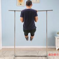 不锈钢晾衣架 金属落地阳台晾衣架加厚单杆简易挂衣架 合金配件