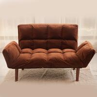 20190720090204188小户型懒人沙发双人卧室阳台榻榻米床可折叠两用布艺休闲小沙发椅