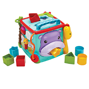 [当当自营]Fisher Price 费雪 探索学习六面盒(双语)多功能益智早教玩具 CMY28