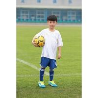 光板男童球衣足球服套装儿童夏短袖足球组队队服定制小学生 白色 儿童白色