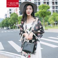 上海故事真丝丝巾小香风披肩女夏防晒韩版桑蚕丝纱巾