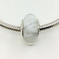Pandora潘多拉白色几何琉璃串珠间隔珠790921