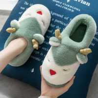 棉拖鞋女士秋冬季家用情侣室内可爱月子鞋包跟产后家居毛毛棉鞋男