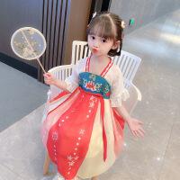 汉服女童夏季连衣裙儿童古装宝宝中国风夏装唐装公主裙子