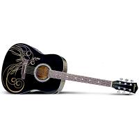 Saysn思雅晨41寸黑色民谣吉他初学者新手入门练习木吉他jita乐器涅��套装