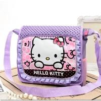 韩版可爱凯蒂猫小学生女书包儿童斜挎包包女孩女童单肩补习作业包 紫色