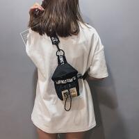 帆布小包包女潮少女小斜挎包宽带仙女单肩包简约文艺胸包