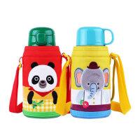 乐扣乐扣儿童带吸管两用保温杯婴儿带盖水杯幼儿园宝宝水壶550ml
