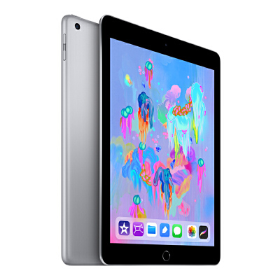 Apple iPad 平板电脑 2018款9.7英寸(128G WLAN版/A10 芯片/Retina显示屏/Touch ID技术 MR7J2CH/A)深空灰色国行正品,可使用礼品卡支付